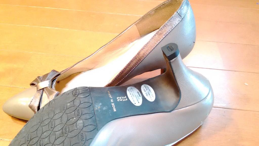女性用パンプスのピンヒール交換の靴修理