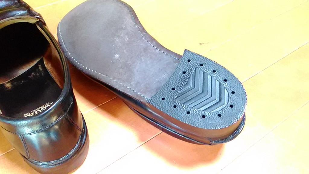 リーガルのヒール交換の靴修理