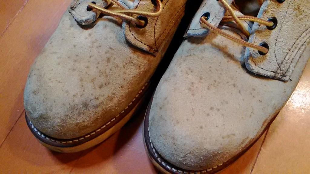 レッドウィングのブーツのカビ取り&丸洗いの靴修理