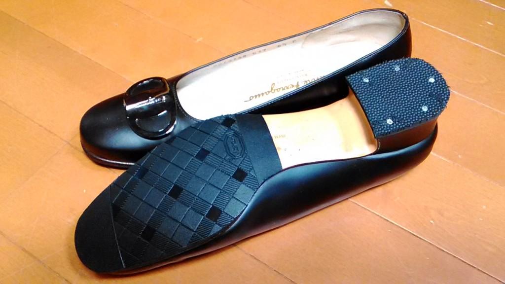 フェラガモ,ヒール,靴,修理