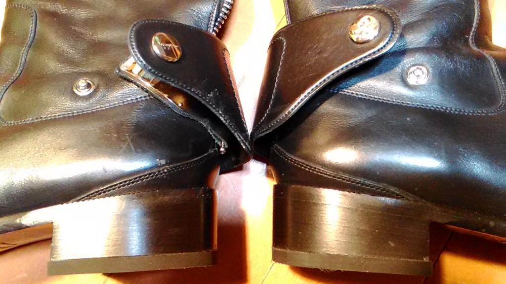 フェラガモのロングブーツのトップリフト交換の靴修理