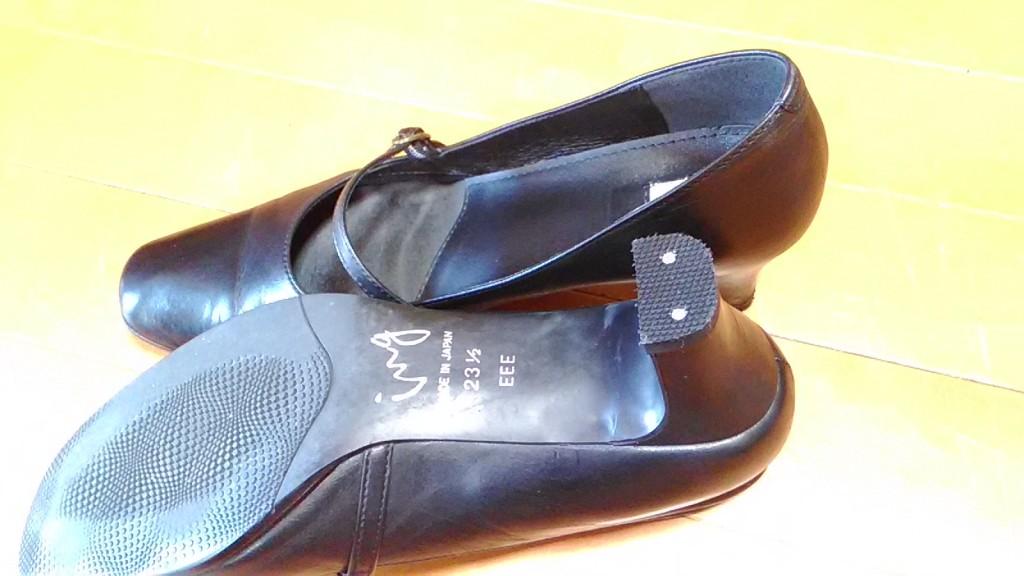 レディースシューズのヒールの革めくれ補修&トップリフト交換の靴修理
