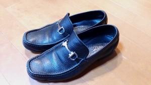 フェラガモのメンズ・スリッポンのトップリフト交換の靴修理