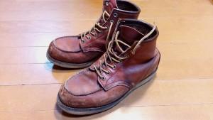 レッドウィングのブーツの丸洗い&革めくれ補修&補色の靴修理