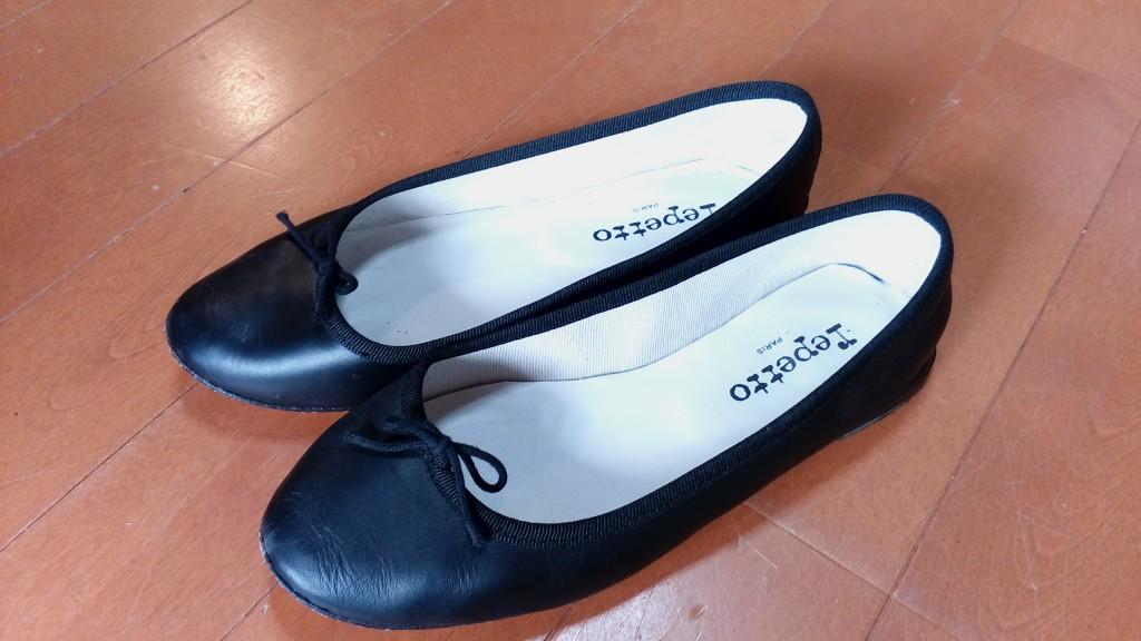 レディースパンプスのトップリフト交換&ゴム半張りの靴修理