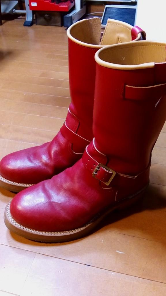 ブーツの補色の靴修理