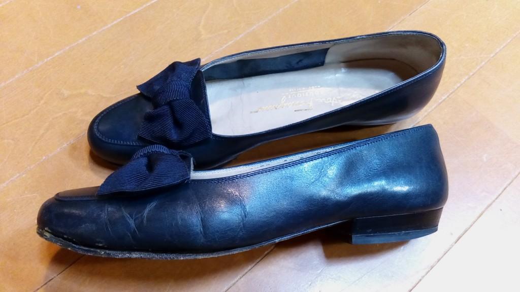 フェラガモのパンプスのオールソール交換の靴修理