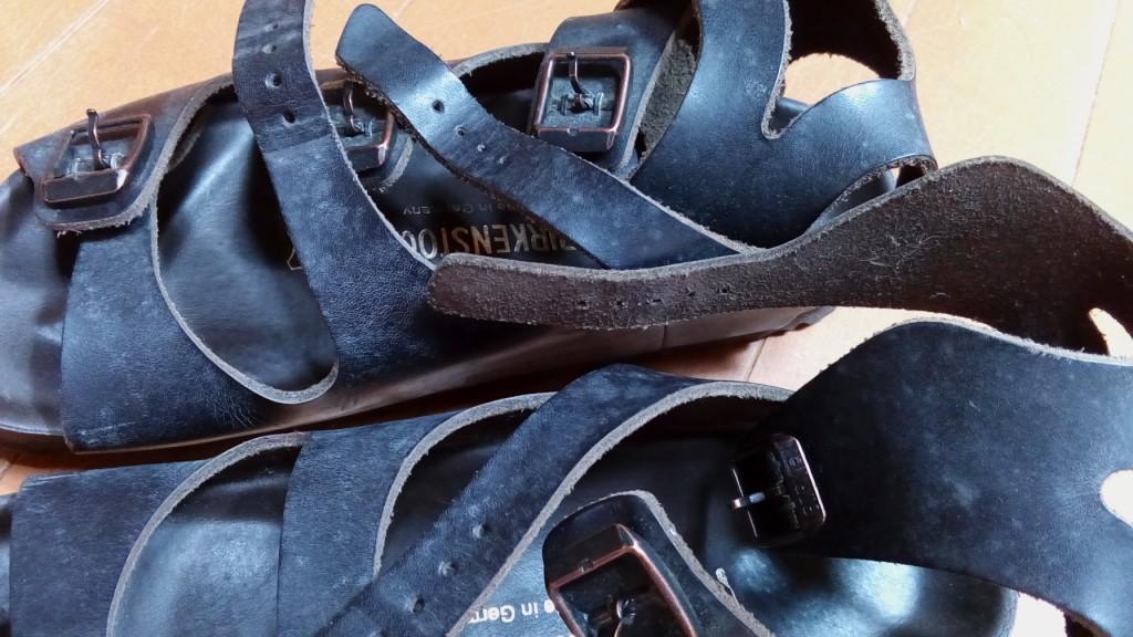 ビルケンシュトックのサンダルの丸洗いの靴修理