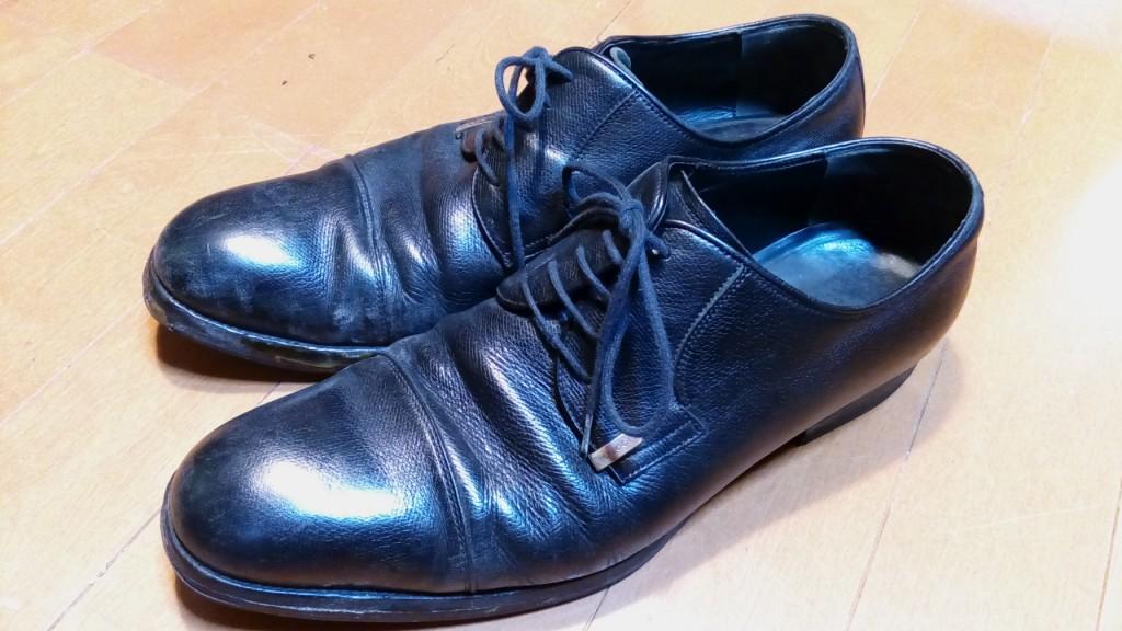 グッチの外羽根プレーントゥのオールソールの靴修理