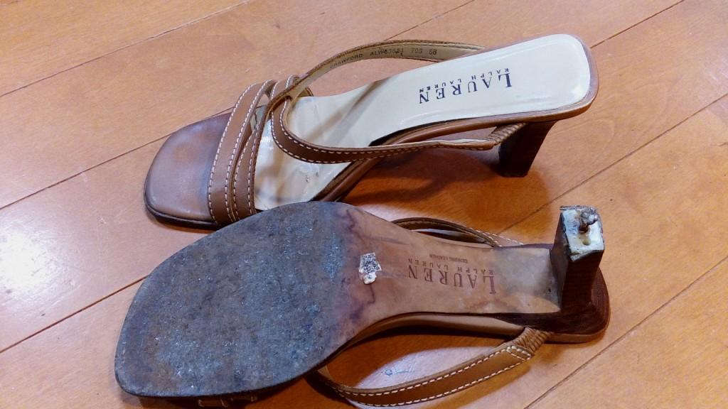 レディースのピンリフトの交換の靴修理