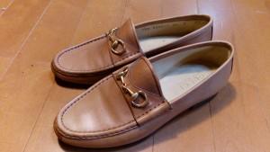 レディース・グッチの丸洗い&ゴム半張り&アッパーの革補修の靴修理