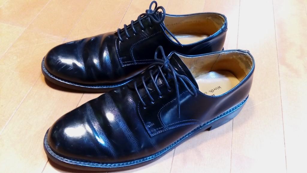 かかと部分のアッパー破れの補修の靴修理