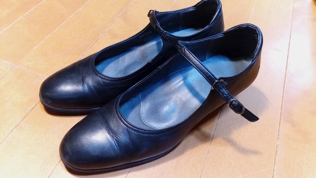 靴修理品95:パンプスのヒールの革めくれ補修の靴修理