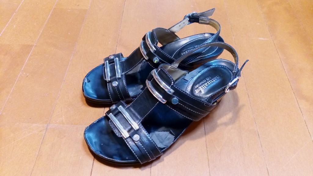 靴修理品96:サンダルのインソール交換の靴修理
