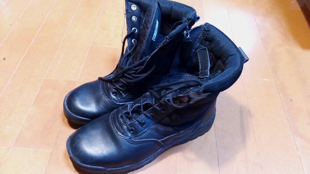 靴修理品102:ブーツのファスナー交換の靴修理