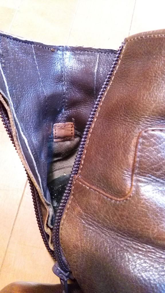 ロングブーツをショートブーツにリメイク