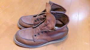 レッドウィングのブーツの丸洗いの靴修理