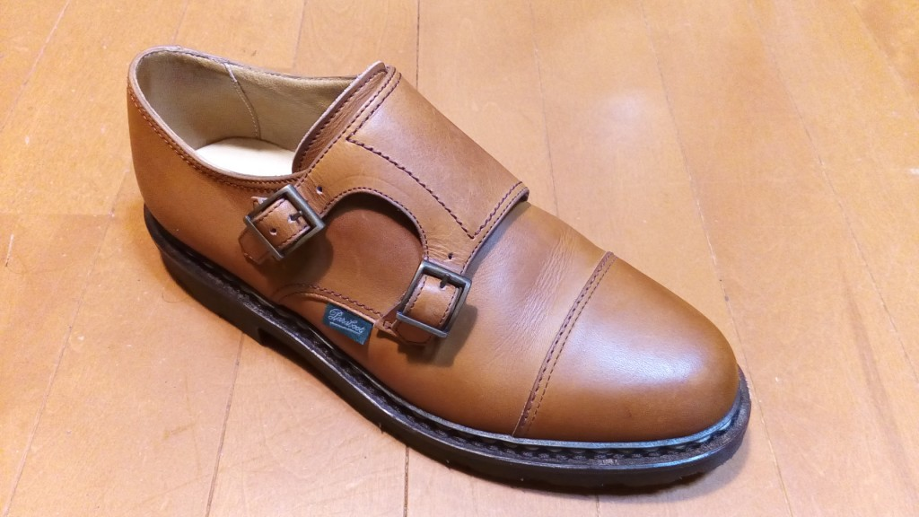 パラブーツの靴のミシンほつれの靴修理