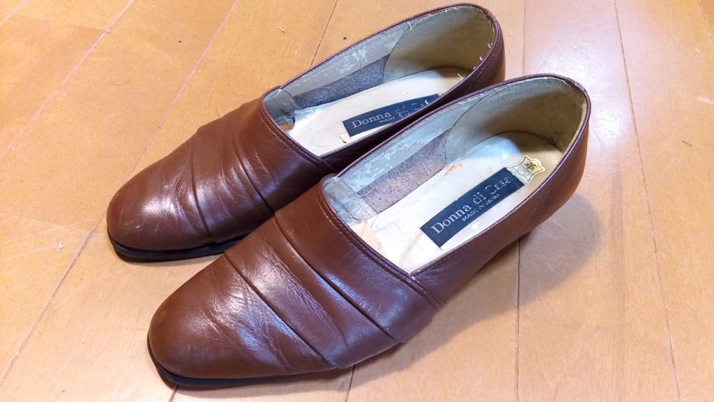 靴修理品108:レディースパンプスのヒール交換の靴修理