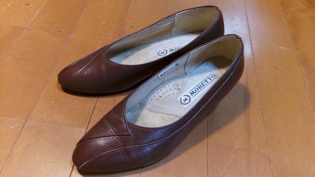 靴修理品109:レディースパンプスのヒール交換の靴修理