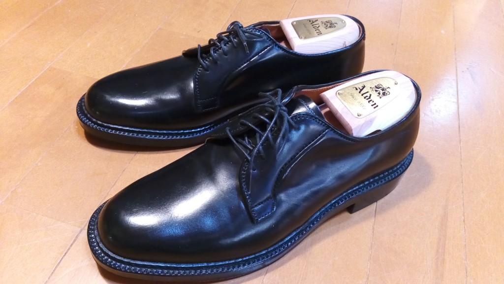オールデンのコードバン靴のゴム半張りの靴修理