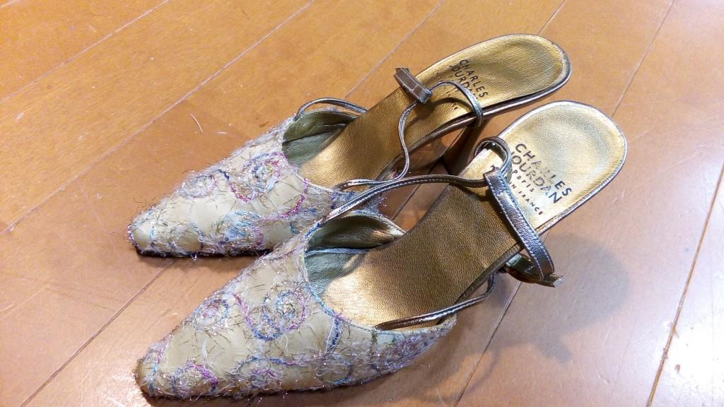 レディースパンプスのヒール交換の靴修理