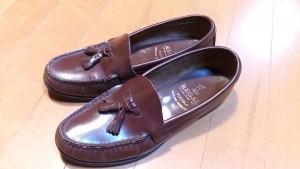 キツイ・小さいリーガルのロファーの靴の幅出し靴修理14
