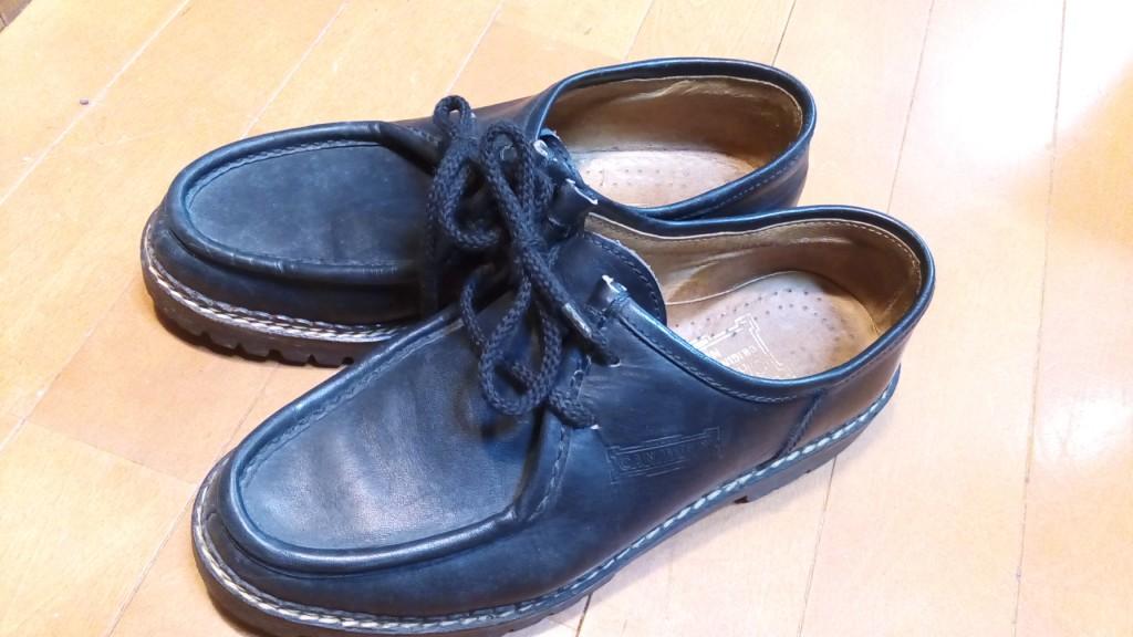 キツイ・小さいイタリア製チロリアンシューズの幅出し靴修理15