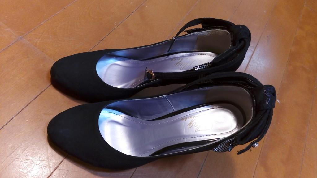 靴修理品119:レディースのピンヒール交換&革補修の靴修理
