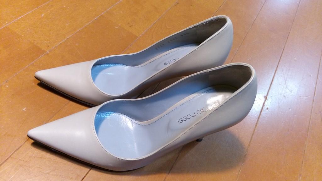 靴修理品121:セルジオロッシのハイヒールパンプスのゴム半張りの靴修理