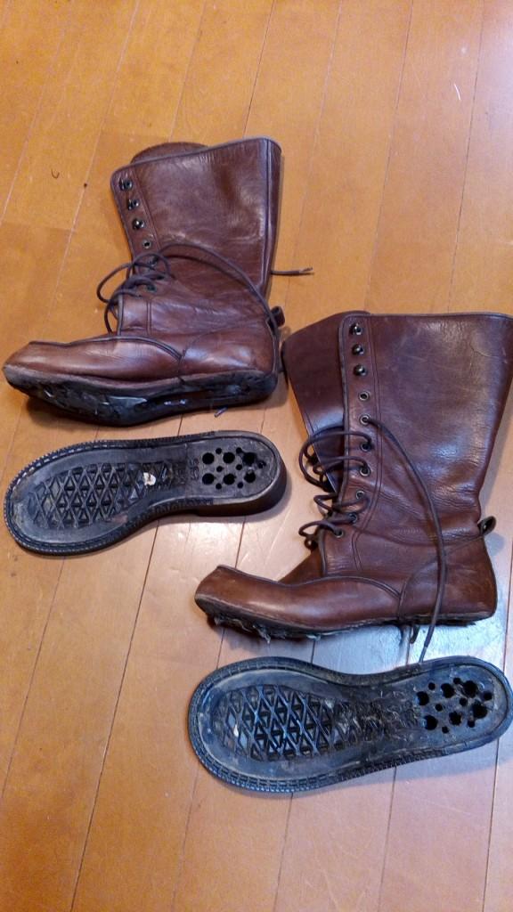 靴修理品123:レディースブーツのソールはがれの靴修理