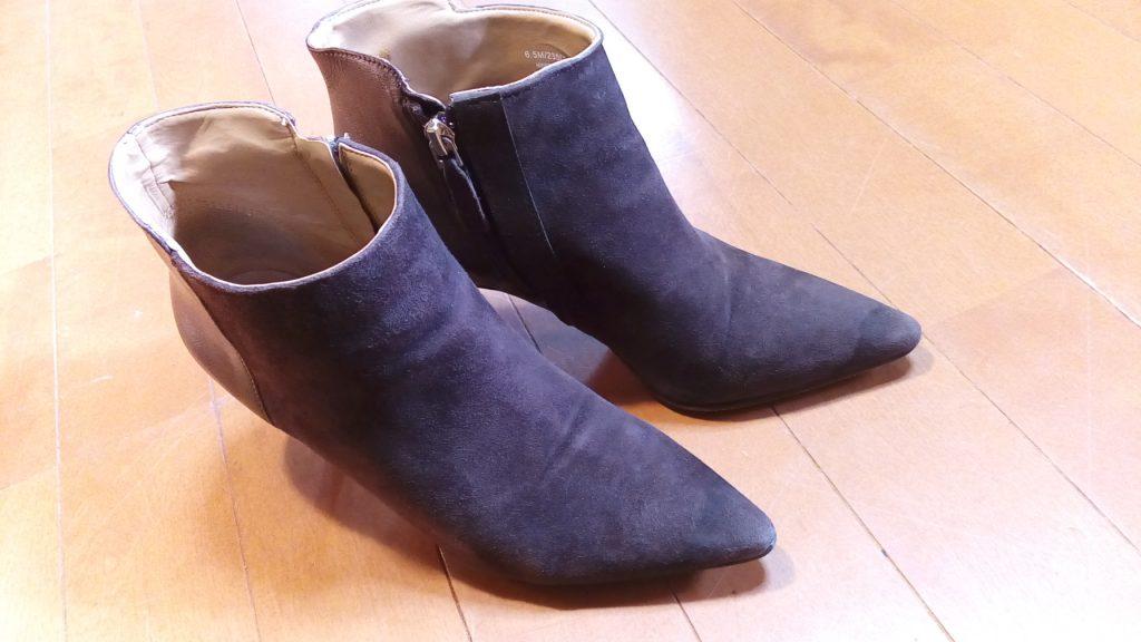靴修理品125:犬に噛まれたレディースブーツのファスナー交換&革破れ補修の靴修理