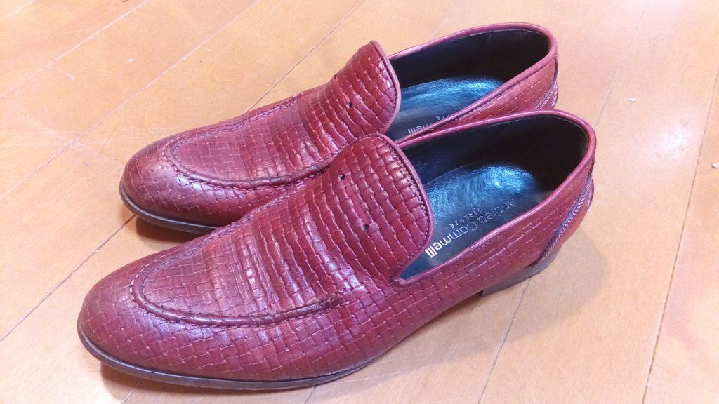 靴修理品131:タッセル・ローファーのタッセル取り付けの靴修理