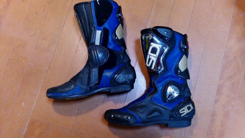 バイク・オートバイ用ブーツのオールソールの靴修理