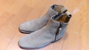 キツイ・小さいメンズブーツの幅出し靴修理19
