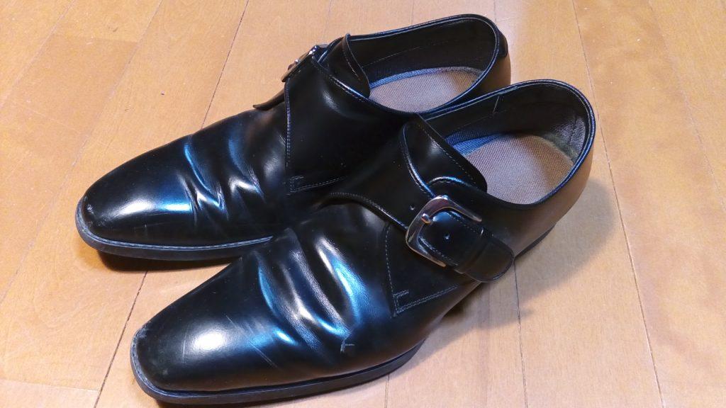 靴修理品134:リーガルのアッパー補修&トップリフト交換の靴修理