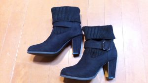 キツイ・小さいレディースブーツの幅出し靴修理22