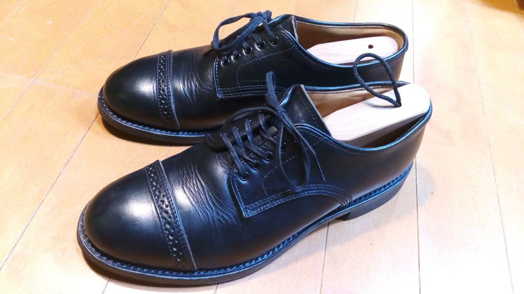 靴修理品136:Wheel Robeのつま先ソール補修の靴修理