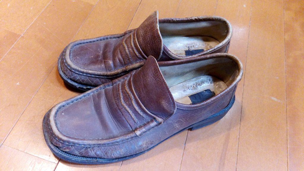 靴修理品149:メンズローファーのオールソールの靴修理