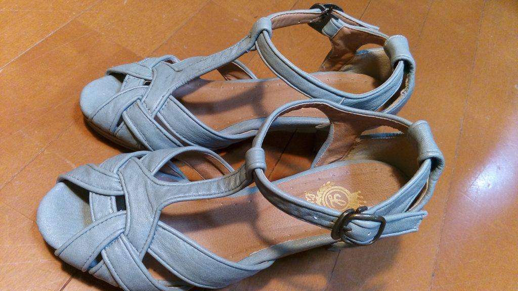 靴修理品146:レディースサンダルのオールソールの靴修理