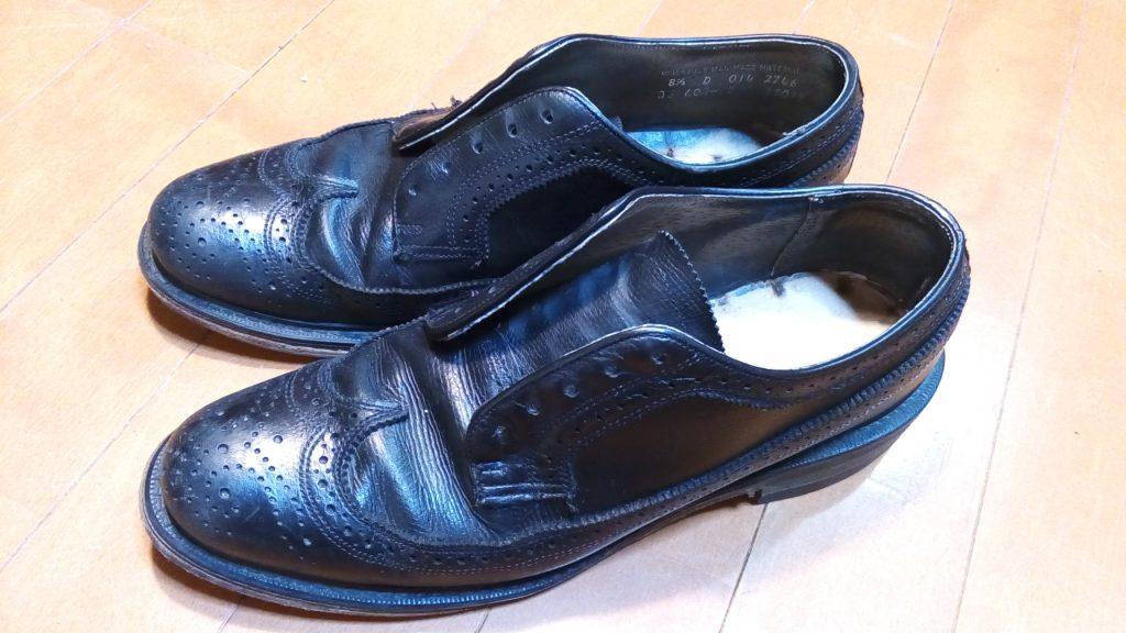 靴修理品142:メンズシューズのオールソール交換の靴修理