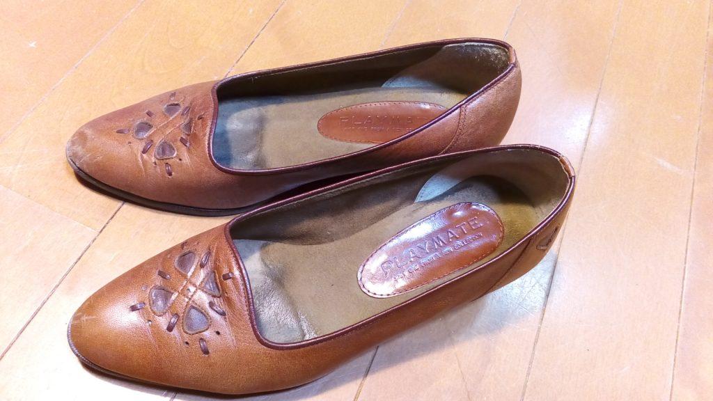 靴修理品137:レディースパンプスのトップリフト交換の靴修理