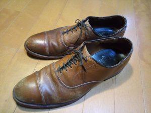 靴修理品153:アレンエドモンズのトップリフト交換の靴修理