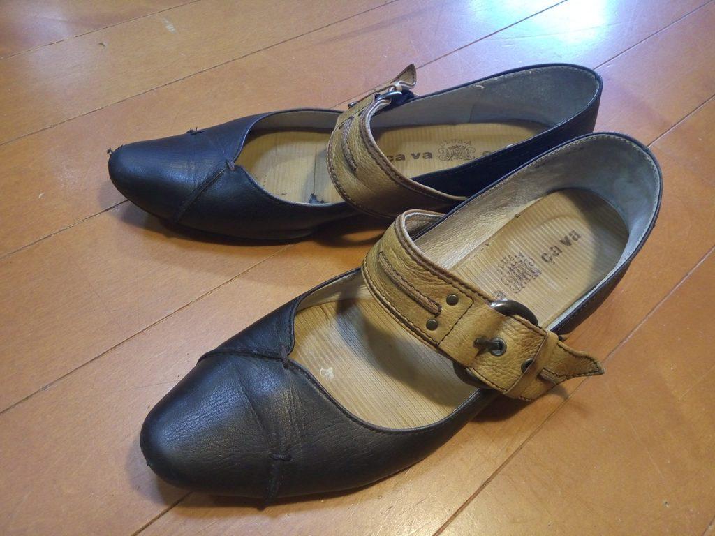 靴修理品138:レディースパンプスのトップリフト交換の靴修理