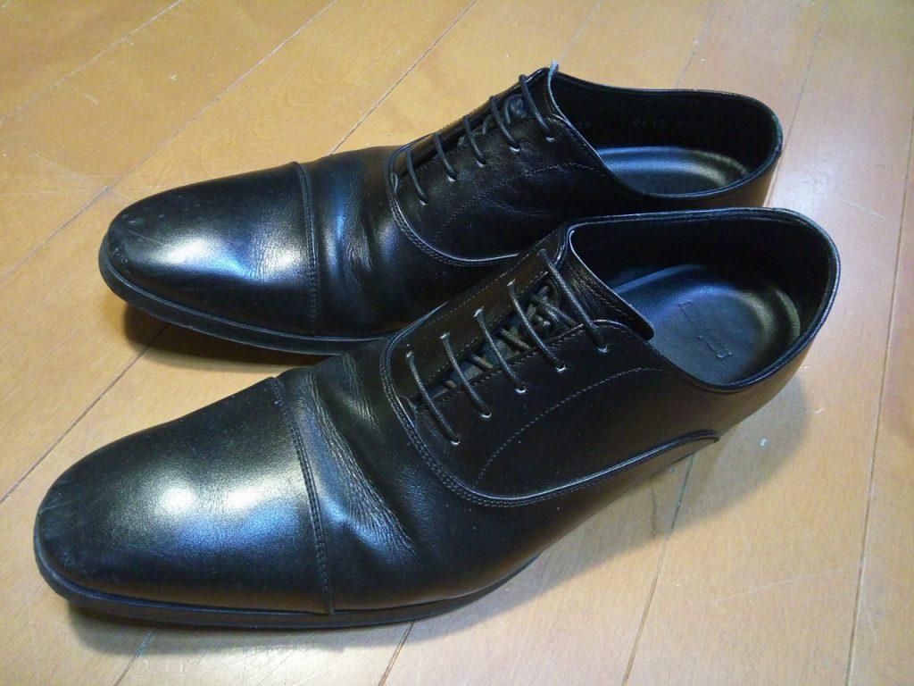 靴修理品141:リーガルのビジネスシューズのトップリフト交換の靴修理