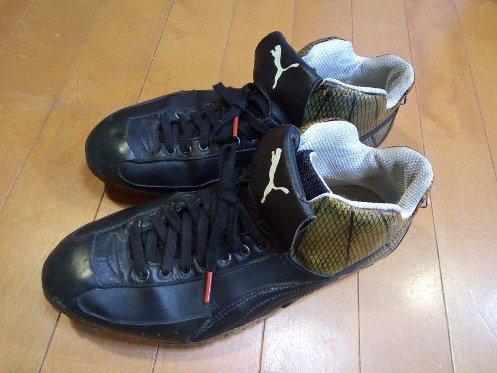 靴修理品140:プーマの自転車用シューズのソール割れの靴修理