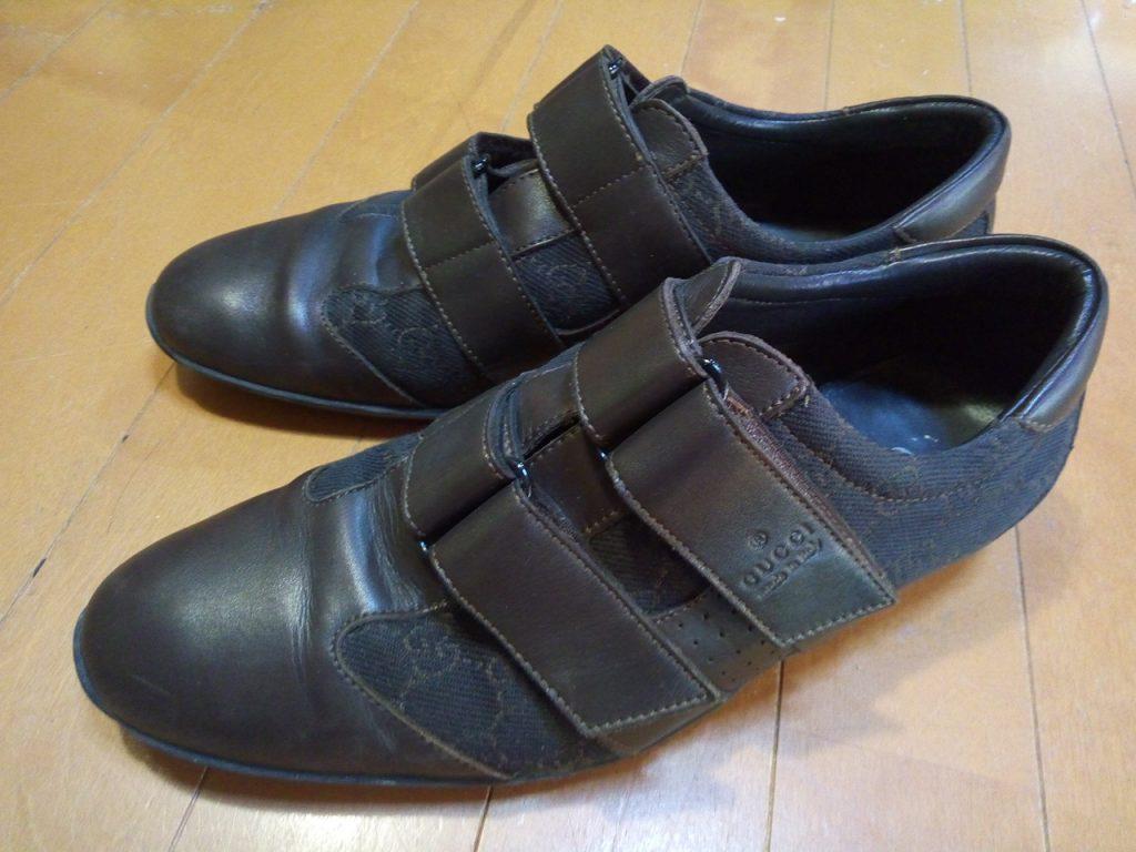 グッチのスニーカーのオールソールの靴修理