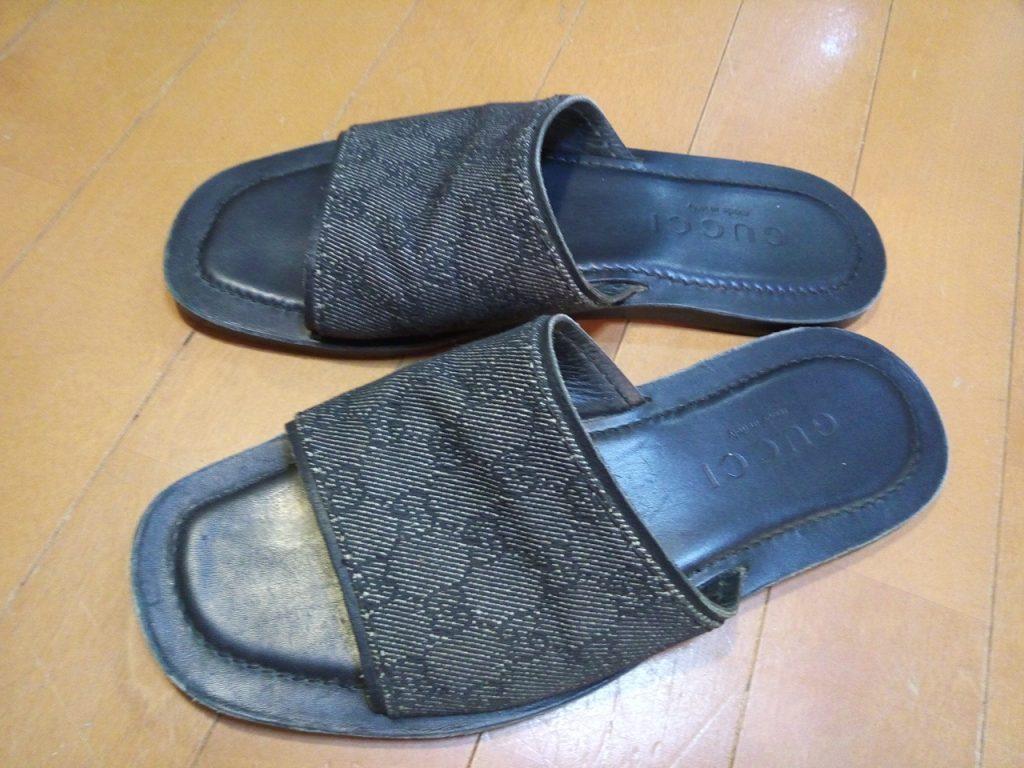 グッチのサンダルのストレッチの靴修理