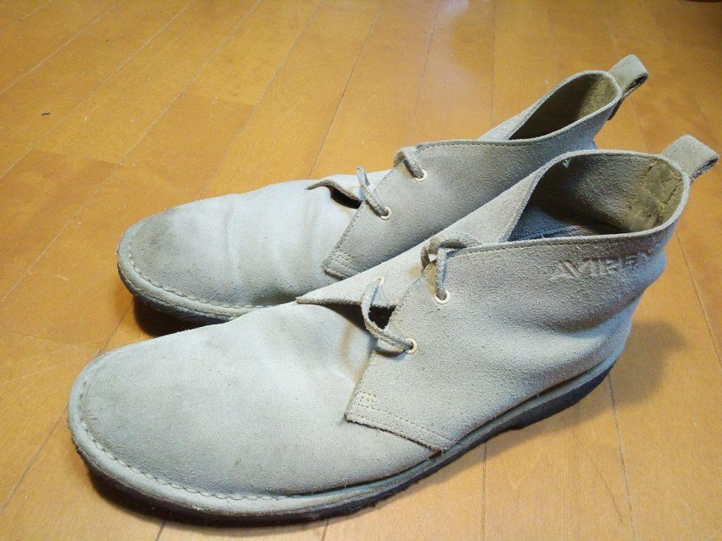 靴修理品150:AVIREXのクレープソールブーツのオールソールの靴修理