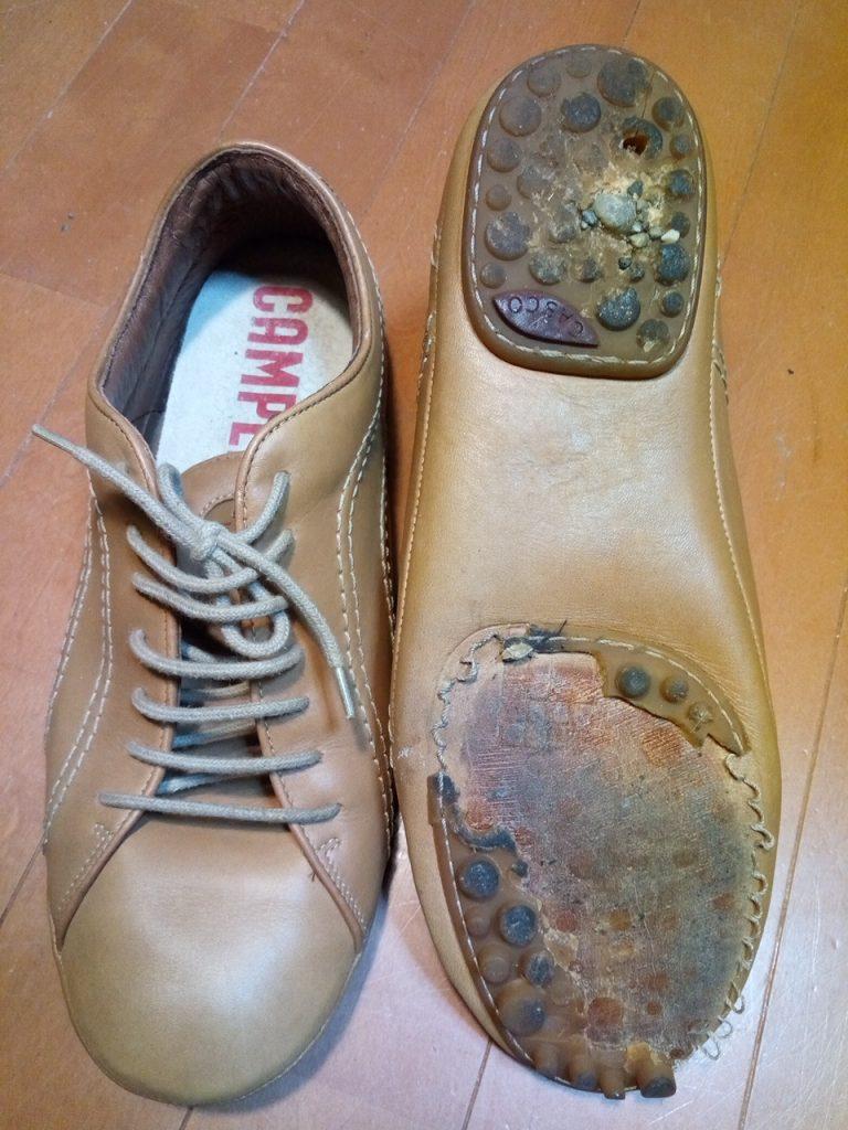 CAMPERの靴修理2